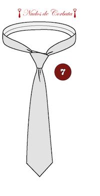 Como hacer nudo de corbata cuatro en mano paso 7