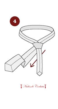 Cómo hacer el nudo de corbata kelvin paso 4
