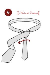 Cómo hacer el nudo de corbata Principe Alberto paso 6