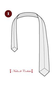 Cómo hacer el nudo de corbata simple paso 1