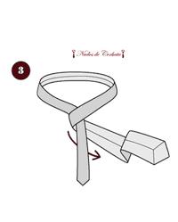 Como hacer nudo de corbata medio windsor paso 3
