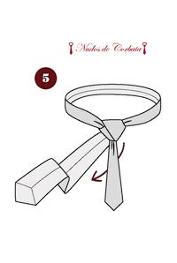 Como hacer nudo de corbata medio windsor paso 5