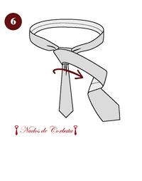 Como hacer nudo de corbata medio windsor paso 6
