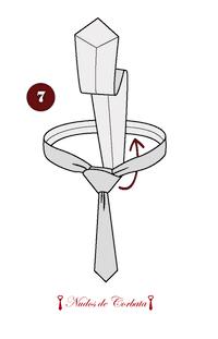 Como hacer nudo de corbata medio windsor paso 7