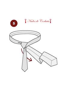 Cómo hacer el nudo de corbata windsor paso 5