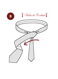Cómo hacer el nudo de corbata windsor paso 8