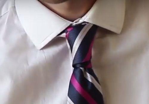 Nudo de corbata Principe Alberto