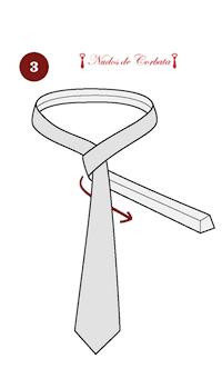 Cómo hacer el nudo de corbata Eldredge paso 3