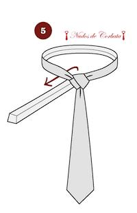 Cómo hacer el nudo de corbata Eldredge paso 5
