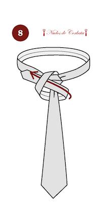 Cómo hacer el nudo de corbata Eldredge paso 8