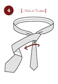 Como hacer el nudo de corbata Van Vijk paso 4