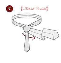 Como hacer el nudo de corbata Van Vijk paso 7