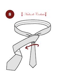 Como hacer el nudo de corbata Van Vijk paso 8